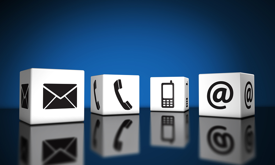 Web Contact Us Icons Cubes